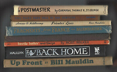 6lot PRIVATES LIVES Middlecamp TALL TALES Davidson FRAGMENTS Bairnsfather Gilroy