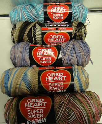 Yarn Red Heart Varigated Colors New Smoke Free Home
