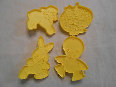 Vintage 1990 Wilton Set of 4 Easter Theme Cookie Cutters - YY