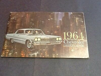ORIGINAL 1964 CHEVROLET OWNERS GUIDE