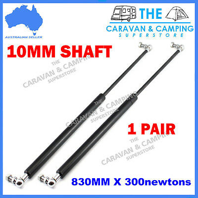 One Pair Gas Strut 300N (830Mm, 10Mm Shaft) Camper Trailer Tent Caravan Toolbox