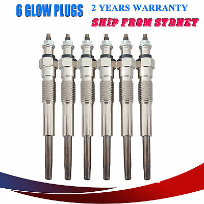 Glow Plugs For Toyota Landcruiser HJ60 4.0L 2H Diesel 60 Series 6cyl 1980-1990