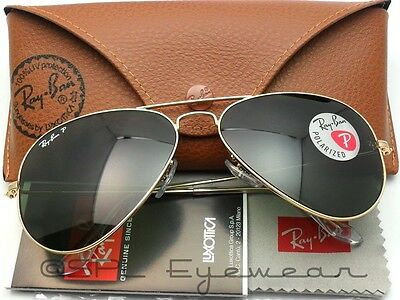 Ray Ban Aviator RB3025 001/58 55-14 Gold Polarized Green Classic G-15 Lens 55 mm