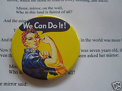 ROSIE THE RIVETER WE CAN DO IT HAND POCKET MIRROR ART