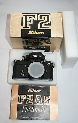 Nikon F2AS Professional 35mm SLR  No.7757188 - Camera Body with Box.