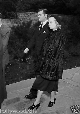 Clark Gable and Carole Lombard going to Jean Harlow's funeral 8x10 rare photo