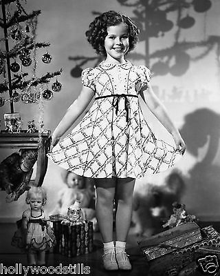 Shirley Temple surrounded by Christmas toys rare 8x10 photo