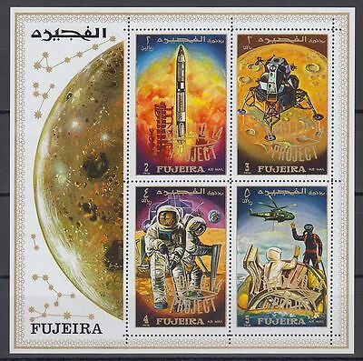 Fujeira 1970 ** Bl.25 A Weltraum Space with ovpt. Apollo 14