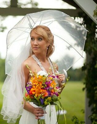 Large Dome Clear Wedding Umbrella - Brand New - Ideal Bride & Bridesmaids