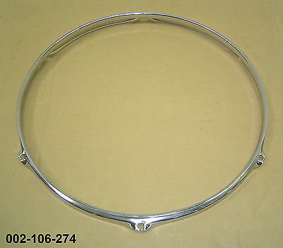 "16"" 6-Lug Triple Flanged H/Duty Hoop / Ring / Rim For Tom Toms Drums 002-106-274"