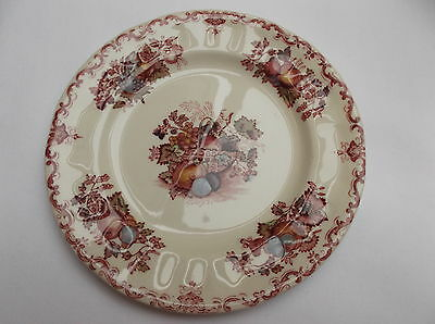 Masons  ' Fruit Basket '  Small tea plate pink colourway