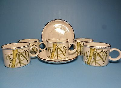 Stonehenge Midwinter Rangoon Cups And Saucers Set Of Five (5)