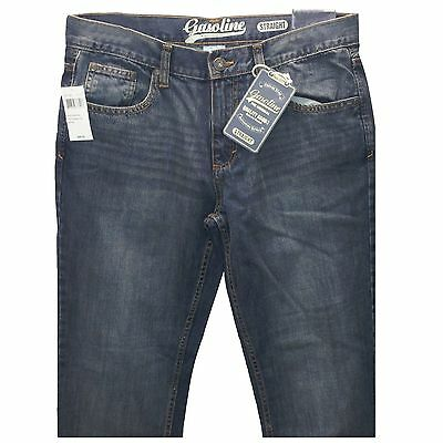 Mens Gasoline Classic 5 Pocket Slim Straight Jeans ~ Levis Strong all Sizes