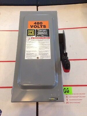 Square D H361 Heavy Duty Safety Switch 600V 30A Warranty Fast Shipping!!