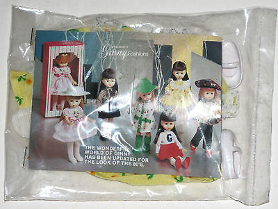 Ginny doll vintage 80's outfit in package with vintage gloves ice roller skates