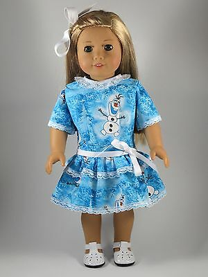 Doll Clothes Fits 18 Inch American Girl Doll Frozen Dress