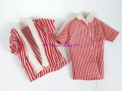 Lot of 2 Vintage 1960's KEN Red & White Striped Terry Beach Jackets