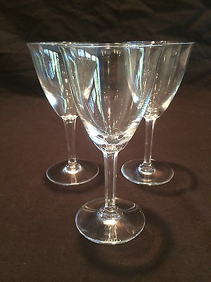SET OF 3 WINE GLASSES BACCARAT IN THE COPPELIA PATTERN