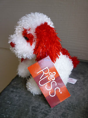 RUSS Red & White Casanova Dog / Puppy  NWT -Valentine