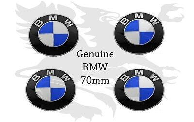BMW Wheel Center Cap Emblem Sticker Roundel Logo 70mm x4 36136758569