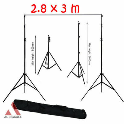Photography Studio Photo Video Screen Background 3m Light Backdrop Stand Kit Set
