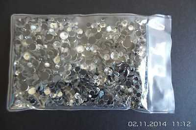 7 Sizes - Add the Bling to your wardrobe with Crystal Clear Hot Fix Rhinestones