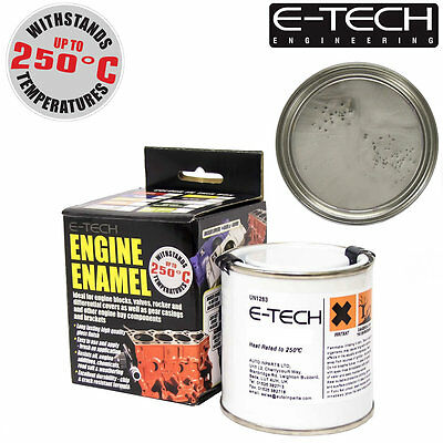 E-Tech SILVER Heat Resistant Engine Enamel Paint 250ml **NEW** High Temp