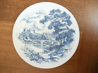 """Wedgwood Countryside 10"""" Blue Dinner Plate ps"""