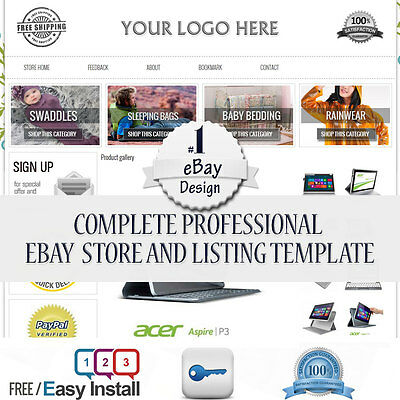 Professional Ebay Store and Listing Template banner slider and Picture Gallery