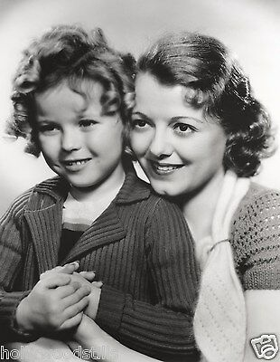 Shirley Temple and Janet Gaynor publicity rare 8x10 photo