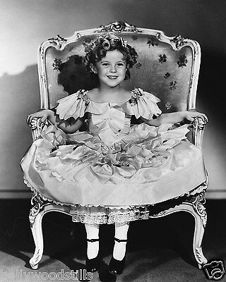 Shirley Temple sitting in princess chair rare 8x10 photo