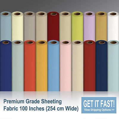 Sheeting Fabric 100% Poly Cotton Fabric Sheeting 254 cm Wide / Per Metre
