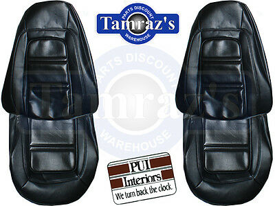 73-75 Firebird Deluxe Front Seat Covers Upholstery - Black PUI