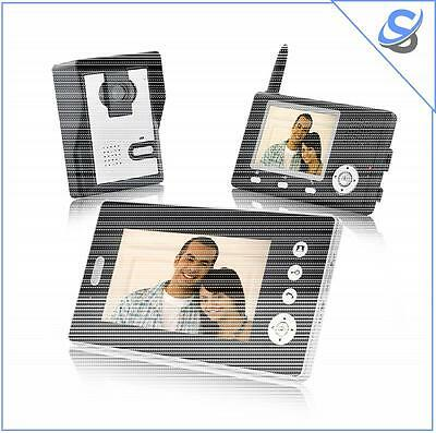 Double Vision Guardian Wireless Video Door Phone With Dual Receivers CMOS Sensor