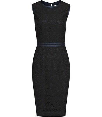 New Reiss Sleeveless Lace Navy Blue Dress Pencil Cocktail Formal size 2 / XS