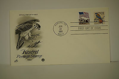 First Day Cover, kestrel Postage Stamp 1991,  FDC