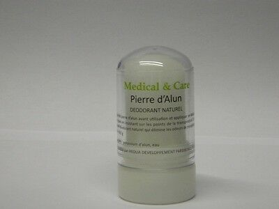 Déodorant  NATUREL PIERRE D'ALUN en stick 60gr Potassium MEDICAL & CARE
