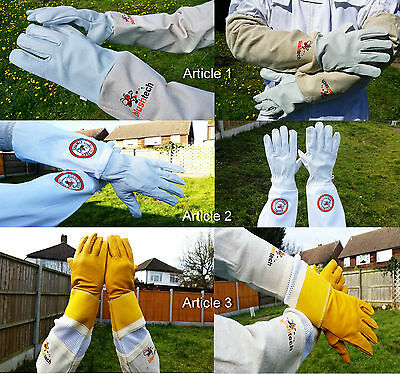 Beekeeper Bee Gloves Beekeeping gloves Cowhide Ventilated Gloves with protection