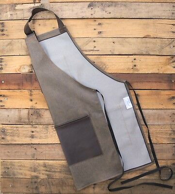 Denim Canvas Apron Art Woodwork Pottery Barber Hair Stylist Leather Kitchen work