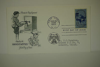 First Day Cover,Promote Employment, Employ The Handicapped,1960,  FDC