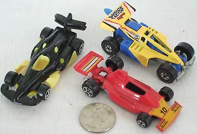 """Diecast 3-pc Indy Race Cars #2 USED approx 3"""" See Photo"""