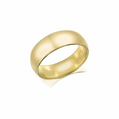 fecca0bbfcea00 14K Solid Yellow Gold Regular Fit Plain Wedding Band Ring 6mm Size5-13 Men  Women