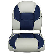 Boat Seat Helm Chair Deluxe Marine Seat Blue on White High Quality+ Free Cover