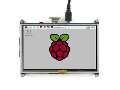 WS 5inch 800*480 Resistive Touch Screen HDMI LCD Direct-Connect with RPi 3B+/3B