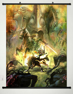 The Legend of Zelda Home Decor Anime Japanese Poster Wall Scroll New 001