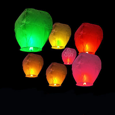 20 PCS/LOT Chinese Sky Floating Lanterns Fire Flying Lamp Birthday Wedding Party
