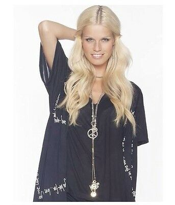 Peace Love World Love And Peace Date Night Black Scarf With Tag