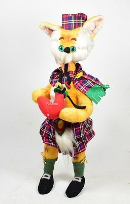 Big Peluche Volpe old Vintage'50 panno lenci glass eyes Fox fiaba pinocchio-000T