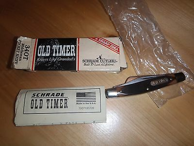 Schrade Old Timer Model 340T Pocket Knife New with Box
