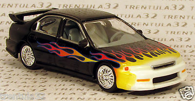 HONDA ACCORD CUSTOM 1995-1996 Black w FLAMES rare Johnny Lightning Loose